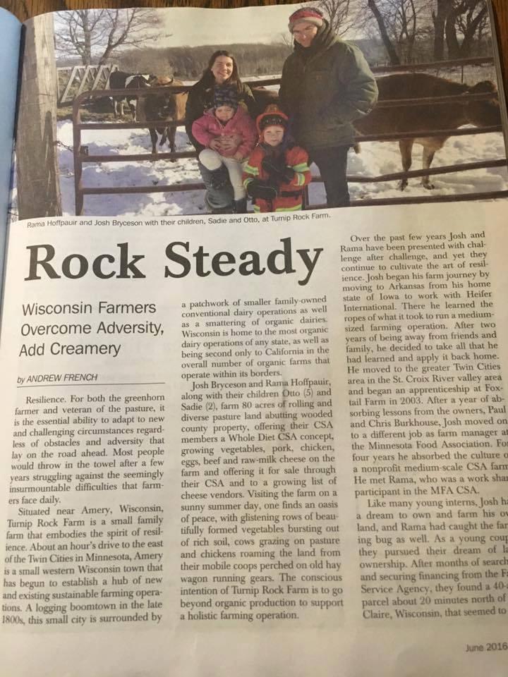 Turnip Rock in Acres Magazine