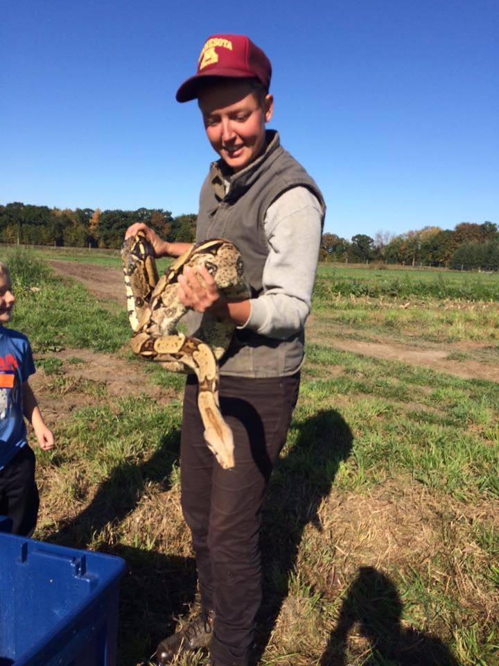 Look what Liberty found in the field! Just kidding. There was a lesson about snakes at the Lucy Laney at Steady Hand Farm Day.