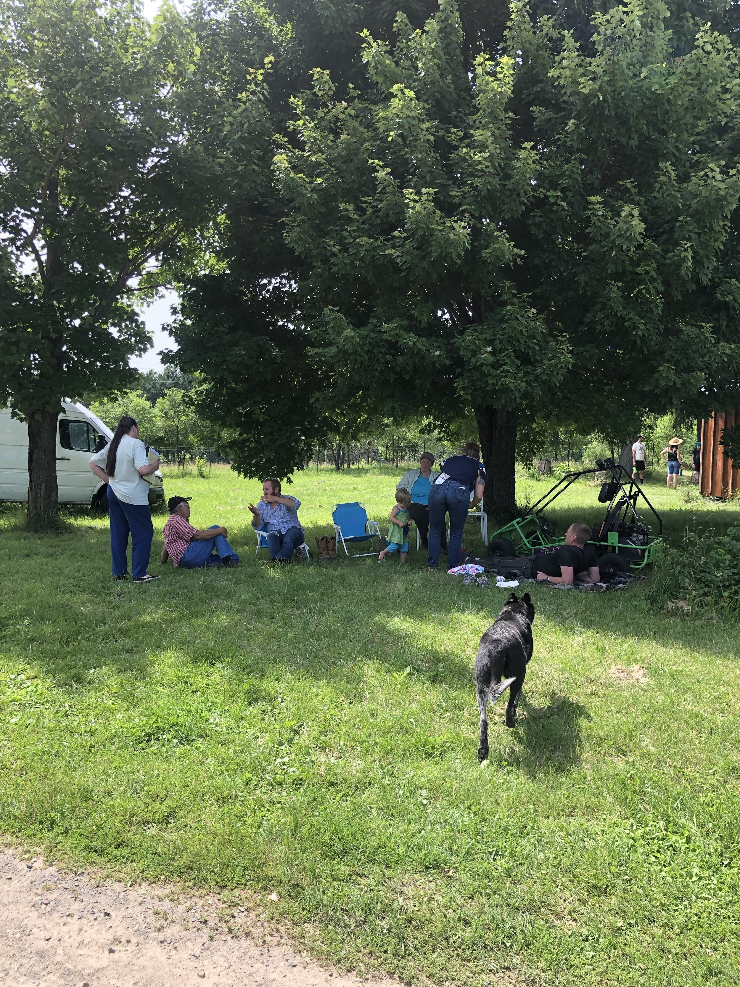 Visitors enjoying the farm!