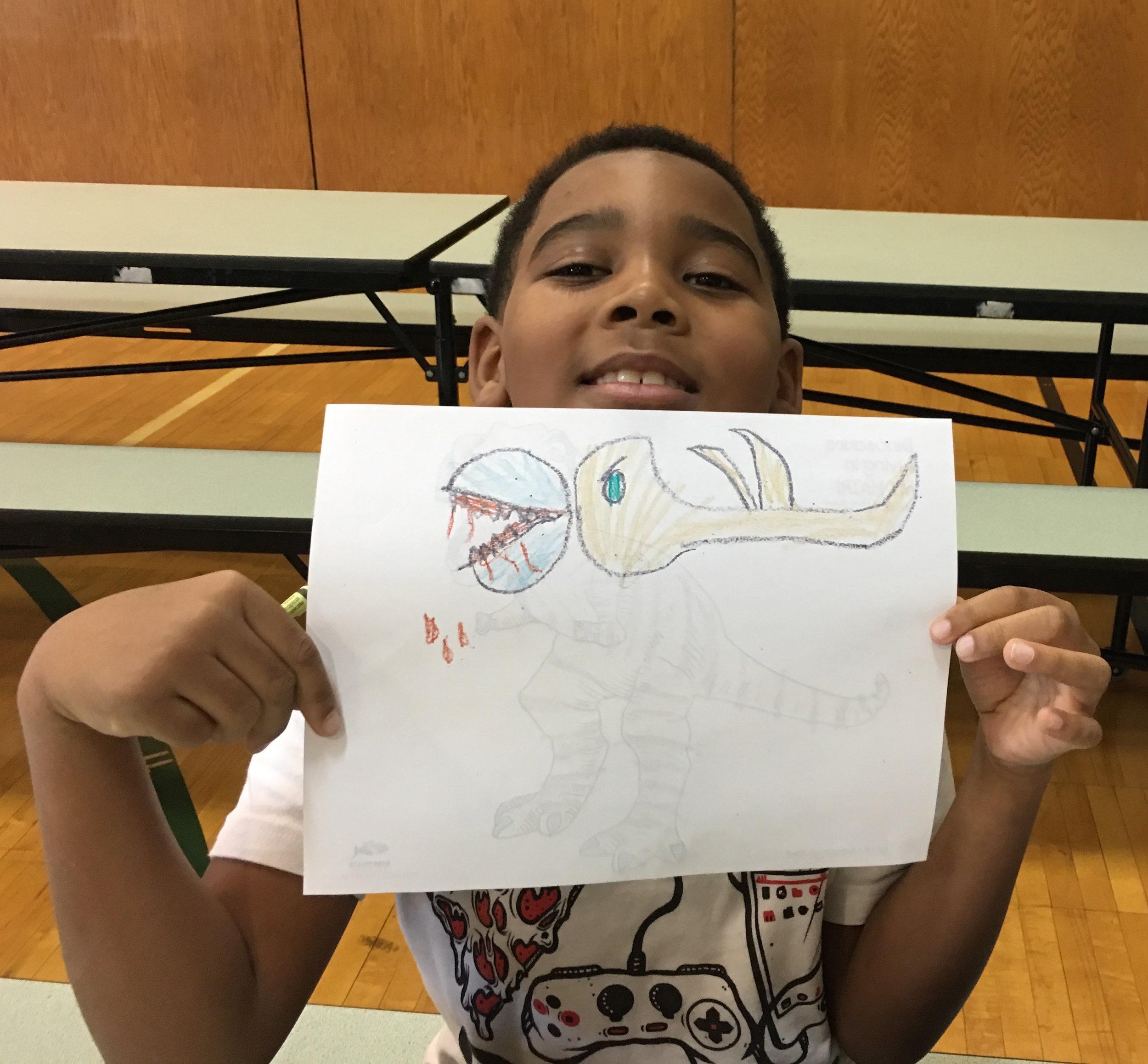The creation of a new dinosaur!