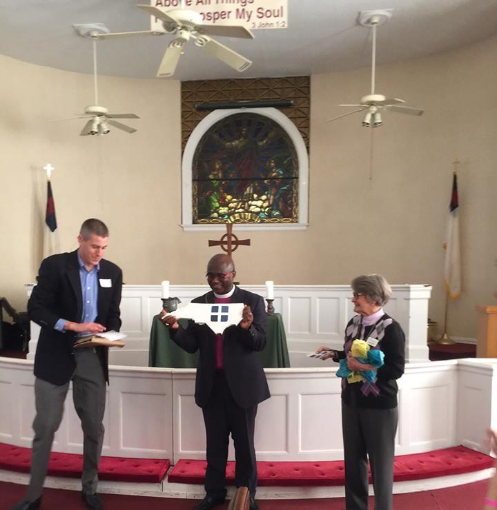 Rev. Ford Jordan, Bishop Jered Kalimbe, Deacon Teresa Kincaid