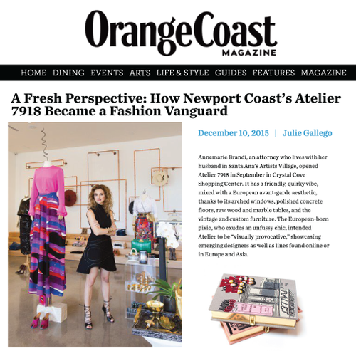 Orange Coast | Online | December 2015