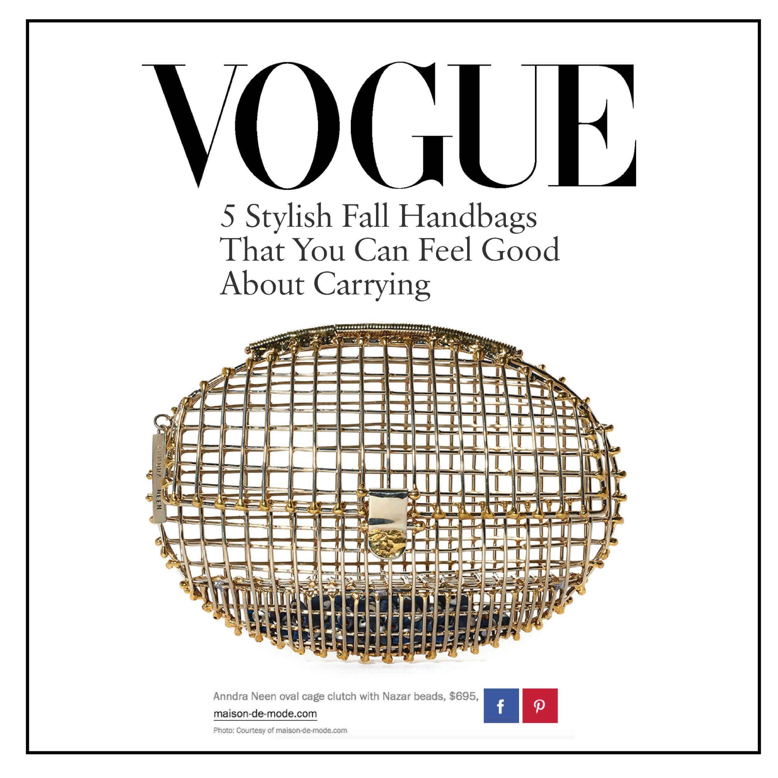 Vogue | Online |October 2016