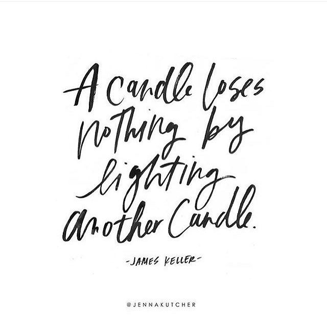 Imagine the amount of light inspired by all of these candles 🤗💡 This quote is such a powerful reminder to spread light and love where you can each day. There is more than enough room for everyone in this wild world and we need you to shine by simply being you ✨🔥 💃🏻 To celebrate #InternationalWomensDay - tag a lady that inspires you today and everyday in the comments to how her some love! ❤️ Image by the amazing @jennakutcher