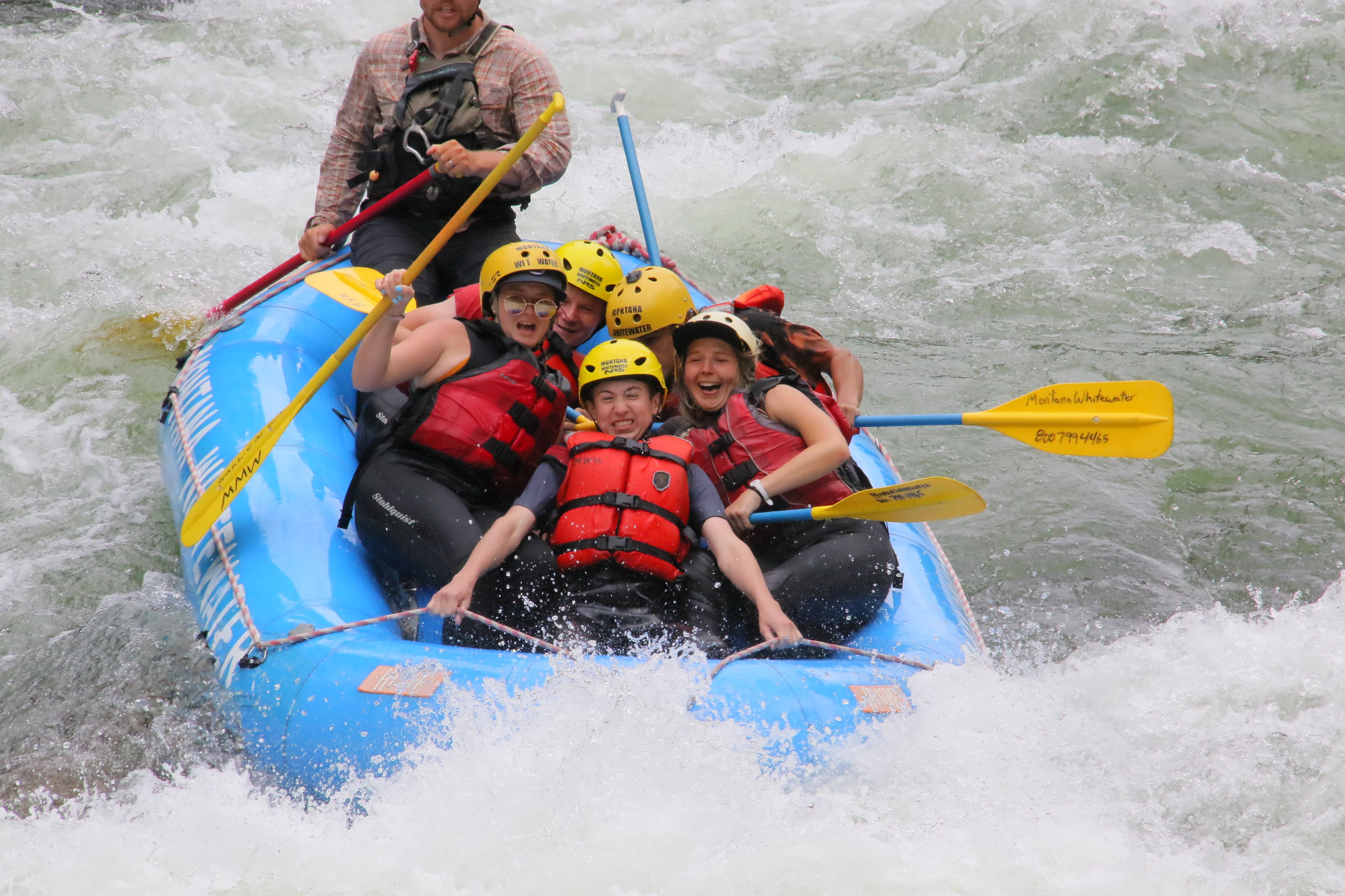 """You can see from their faces why they call it the """"Mad Mile"""" on the Gallatin River."""