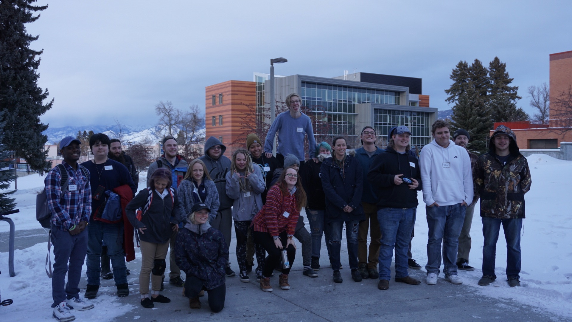 Crux participants taking a tour of MSU on their way to dinner with the Hilleman Scholars Program