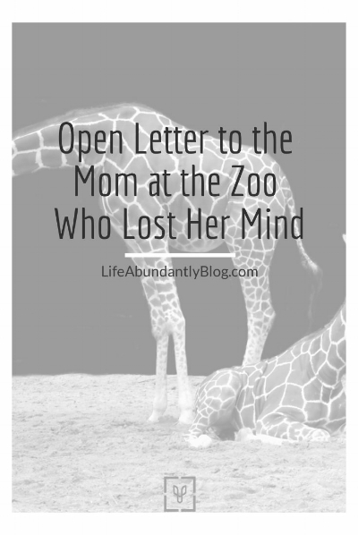 LIfeAbundantlyBlog.com Mom at the Zoo