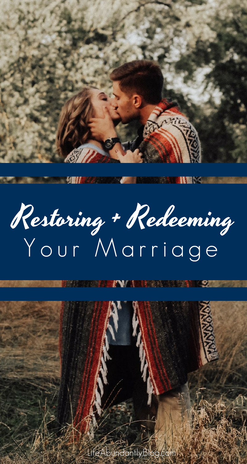 God is capable of redeeming and restoring ANY marriage. He's there, offering his support and new mercies. It's up to us to CHOOSE his way.