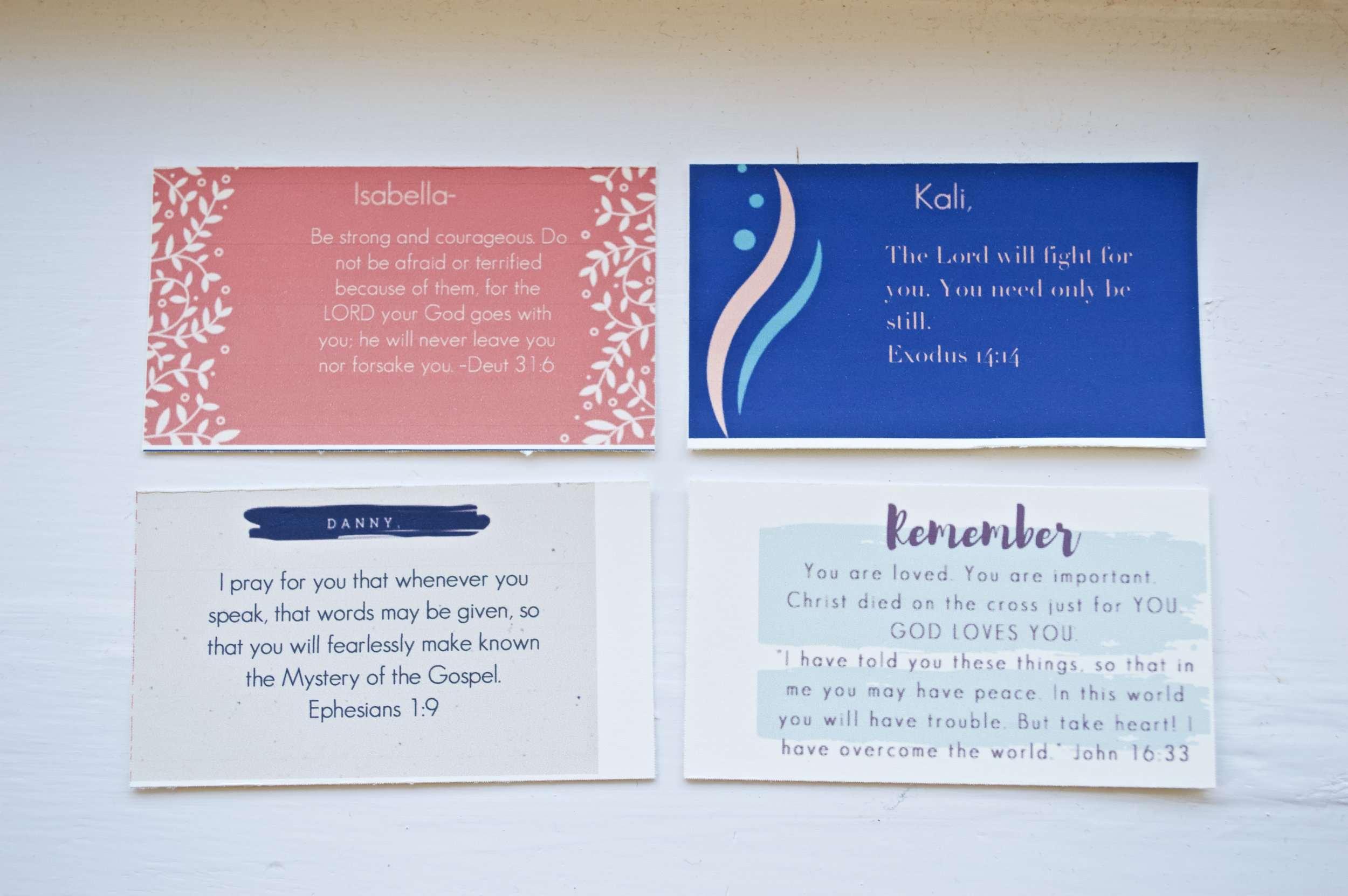 Scripture cards that can be personalized for your husband or children- with God's word speaking truth into their hearts in a beautiful, personal way!
