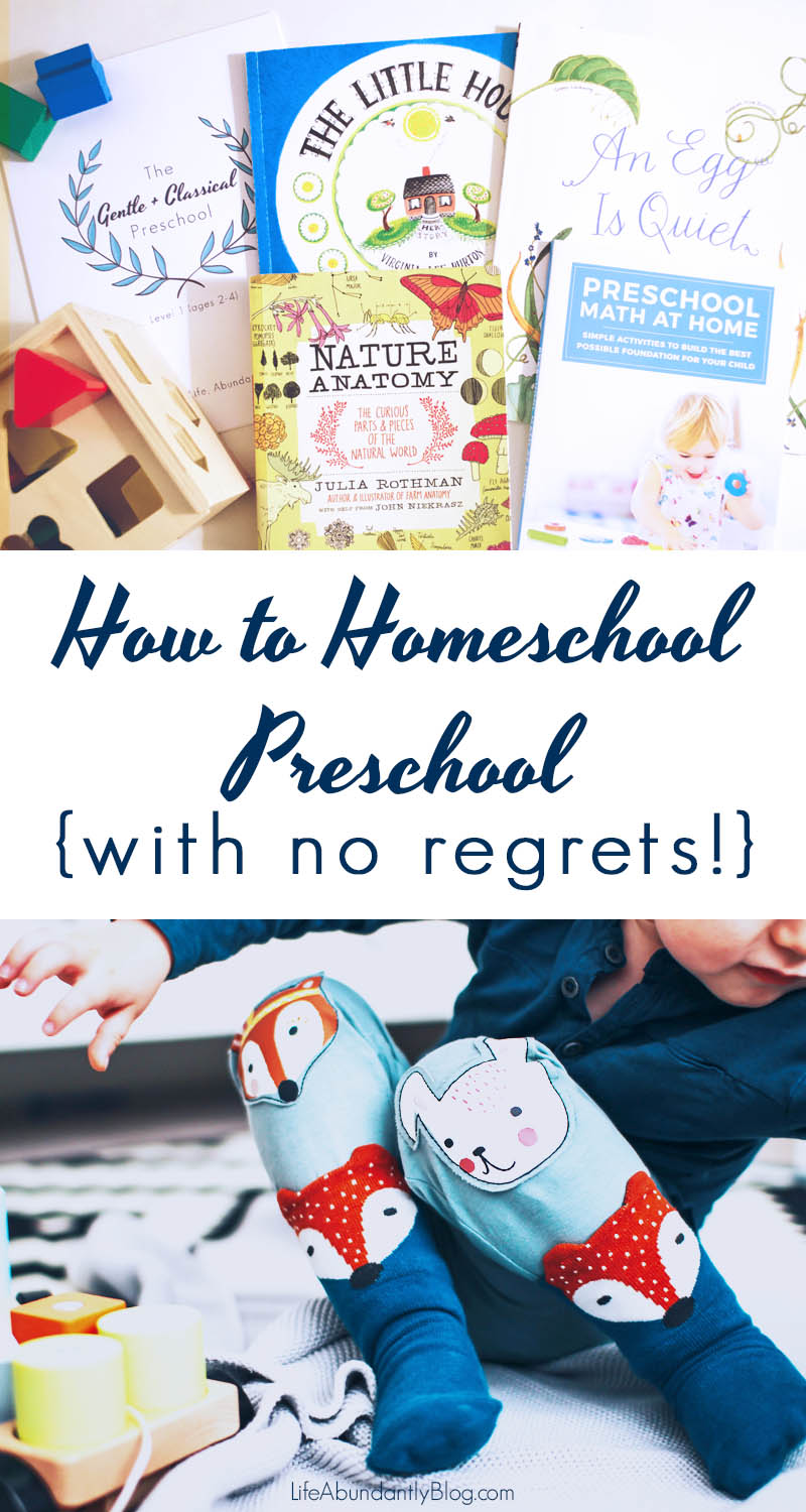 There are SO MANY different ways and options for choosing to homeschool preschool. It's completely overwhelming! Here's how a veteran homeschool mom of 4 handles those precious years from 2 to 6. You won't regret it!