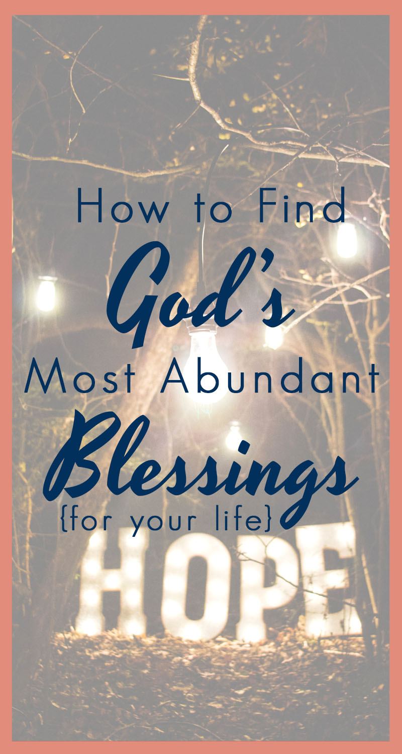 God has abundant blessings in store for all of this. And this isn't prosperity gospel- I'm not talking about cash in the bank. I'm talking about LIFE- Abundantly. In every circumstance, every season, every trial, every triumph, God's best is just WAITING for us- here's how to grab hold.