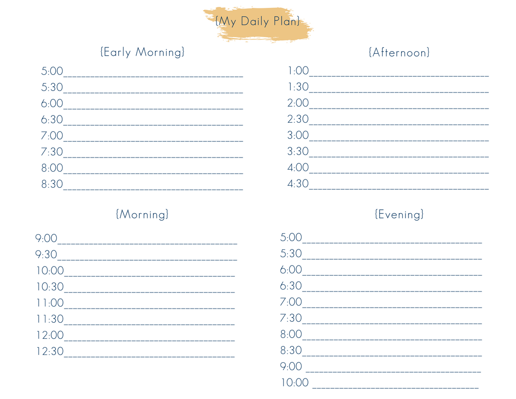 photo regarding Daily Docket Printable known as Absolutely free Homeschool + Ministry + Property Handle Planner (10