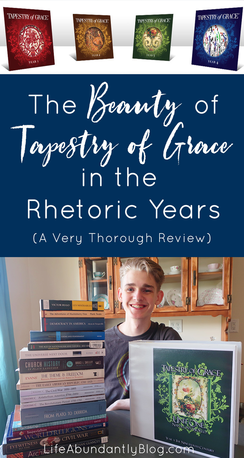 Have you ever wondered about Tapestry of Grace for your high school or rhetoric level student? Wondered if ToG is too complicated or expensive? Check out this very detailed and thorough review of Tapestry of Grace for both middle school and high school students in your homeschool.