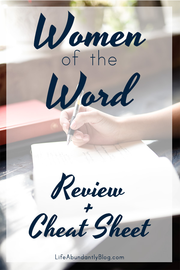 "Looking for a quick review of Women of the Word by Jen Wilkin? You've found one. You can also grab a half-page bookmark ""cheat sheet"" for remembering and implementing her methods in your time in God's Word."