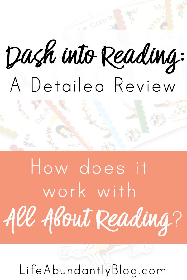 Have you ever heard of Dash Into Reading? This is a detailed review, sharing why this Mama loves them, especially as a compliment to All About Reading. They're a much more beautiful early, leveled reader than Bob books all day long!