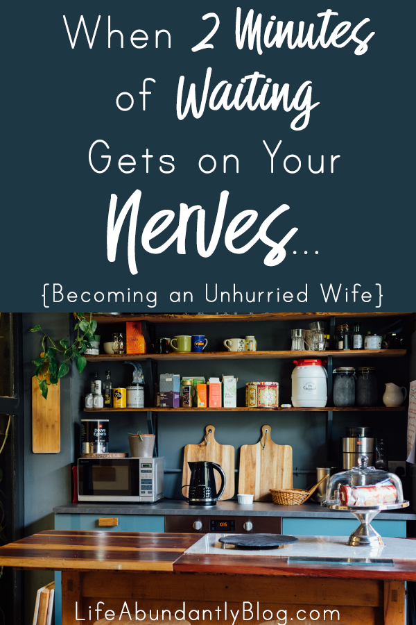 I struggle with patience and perspective. I sweat the small stuff. I stay so busy and overwhelmed by a million to-dos that even a moment of interruption makes me irritable and frazzled. But there is a better way. We can become unhurried, patient wives.