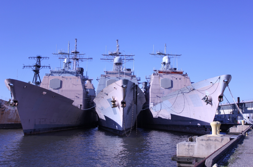 Insignificant Scraps: the large battleship scale juxtaposed with the color pink