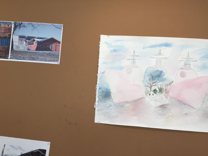 Watercolor: taught myself a new art medium to portray our potential to the potential of the site.
