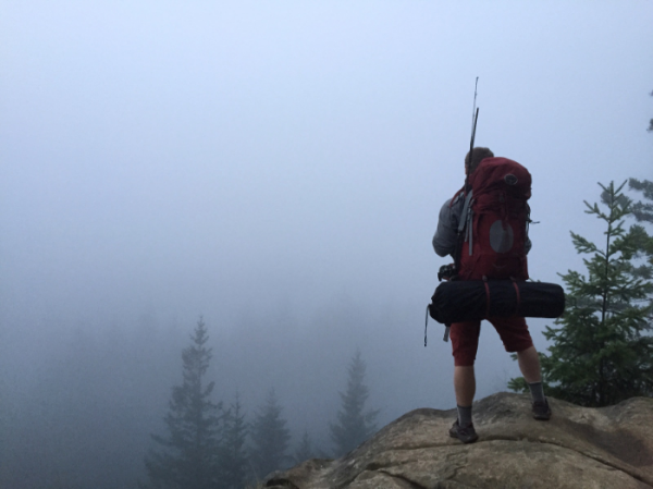 Foggy morning at the Raptor Ridge lookout.
