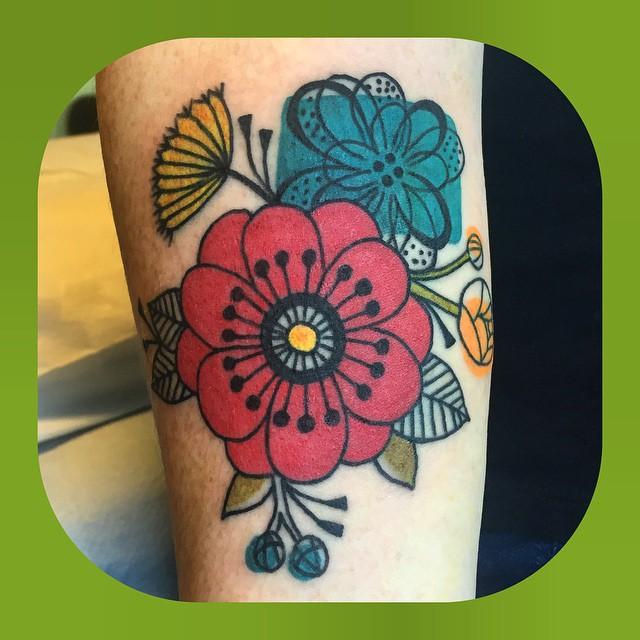 flowers-watercolor-tattoo-LA-LosAngeles-besttattoo-besttattooartist-besttattooartists-top-pictures-images-photo-tat-ink-inked-jennifertrok-guestartist-rabblerousertattoo