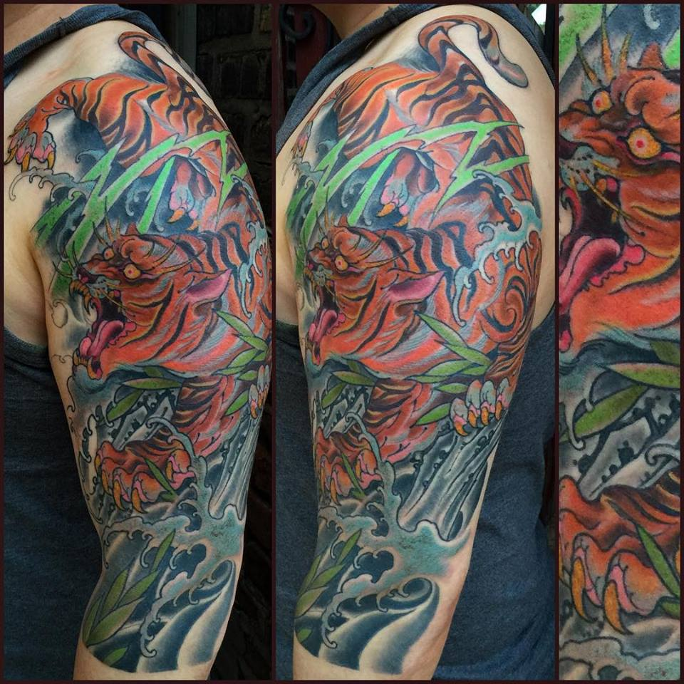 tiger-sleeve-color-creature-tattoo-LA-LosAngeles-besttattoo-besttattooartist-besttattooartists-top-pictures-images-photo-tat-ink-inked-robgoodkind-guestartist-rabblerousertattoo