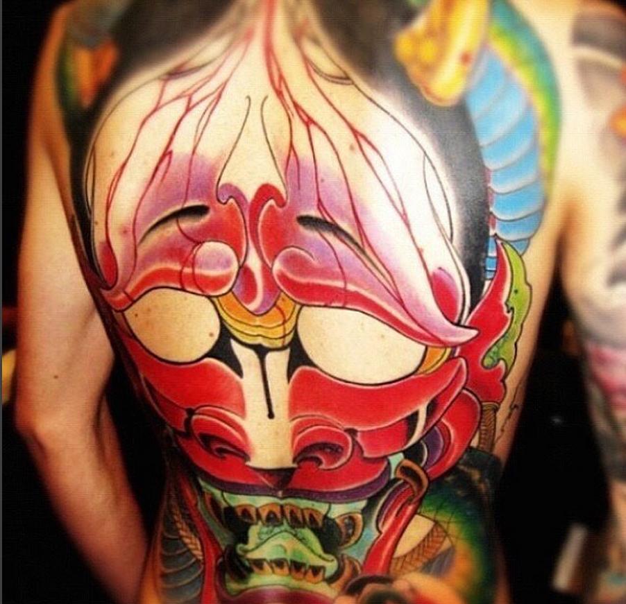 asian-mask-color-Tattoo -LA-LosAngeles-besttattoo-besttattooartist-besttattooartists-top-pictures-images-photo-tat-ink-inked-bigboy-guestartist-rabblerousertattoo