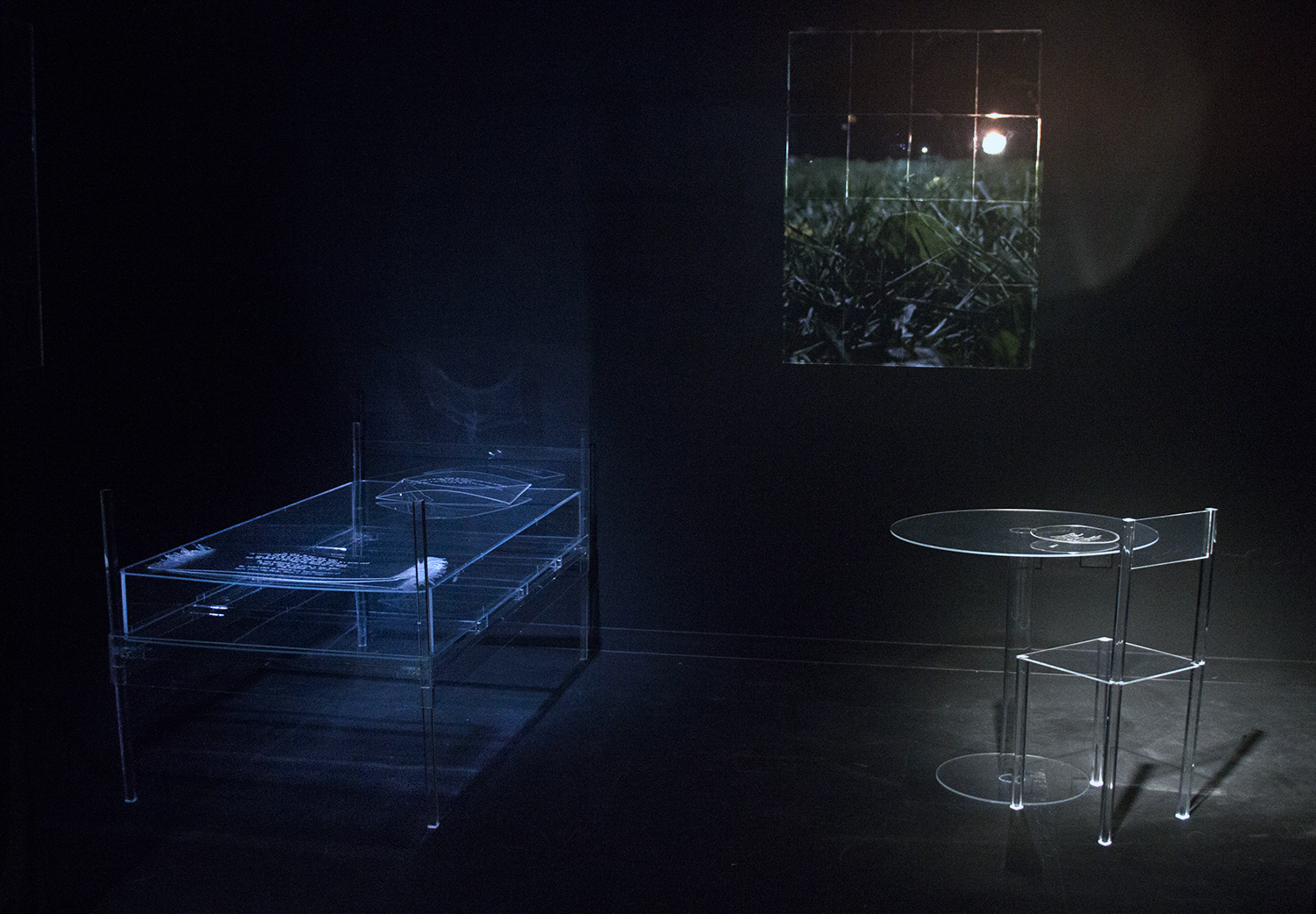 A view of one of the rooms in the installation.