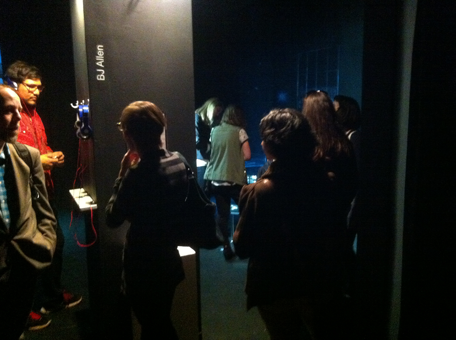 Viewers at the opening.