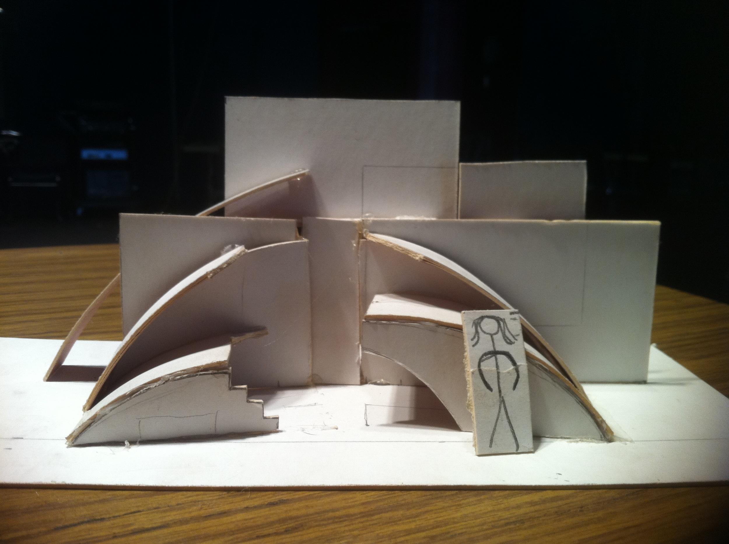 I co-designed and built the set with the multidisciplinary builder  Brock Nummerdor.