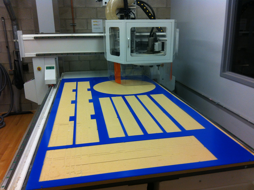 The CNC (compter numeric controlled) mill used to cut the larger pieces of acrylic.