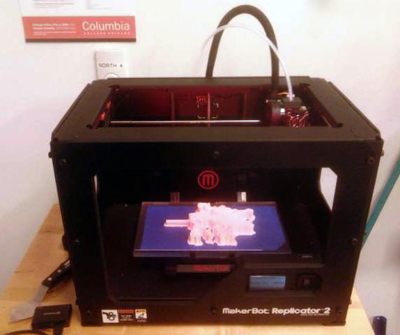 Using a Makerbot printer.