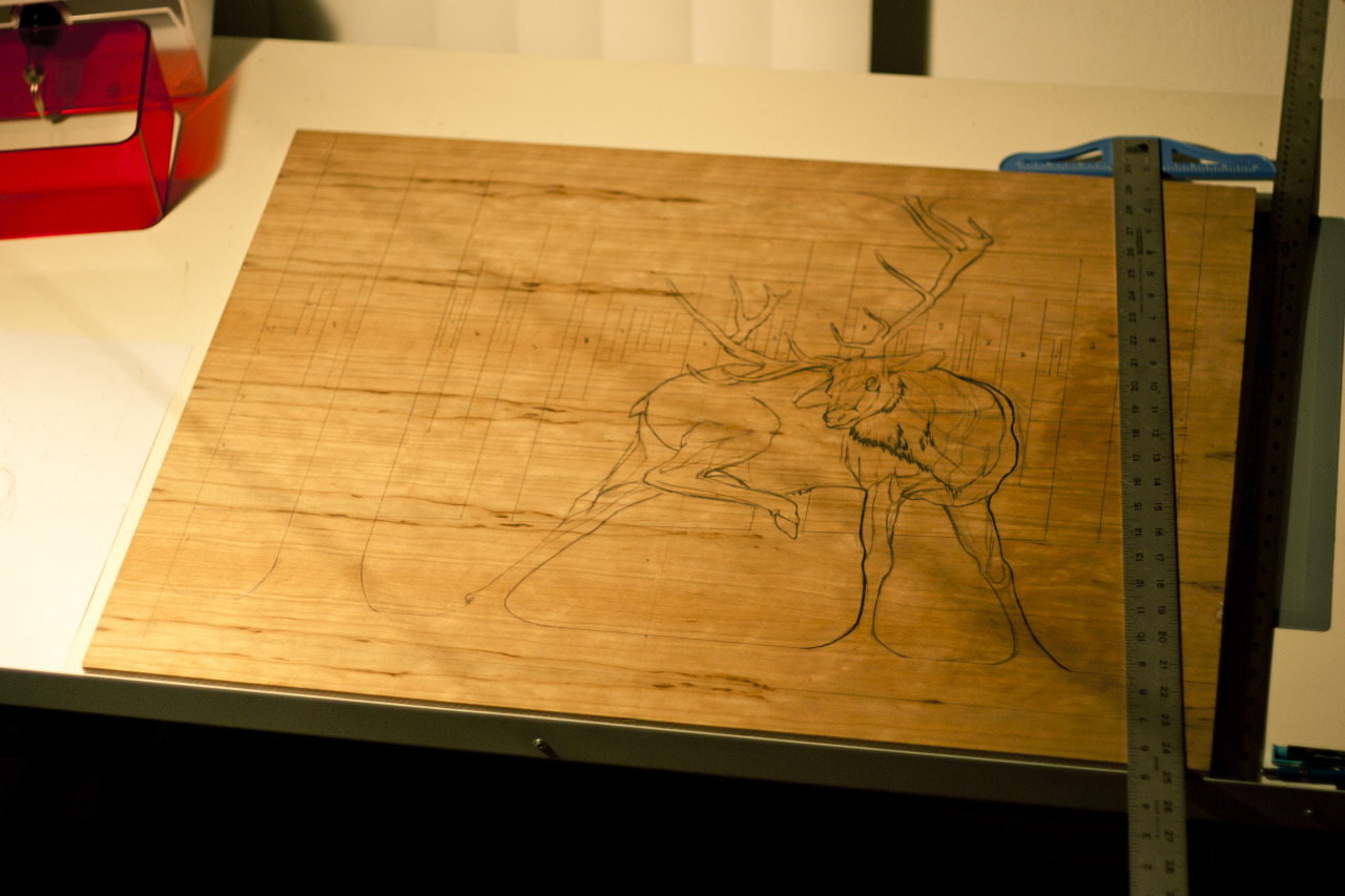 The Mountain Woodblock Layout