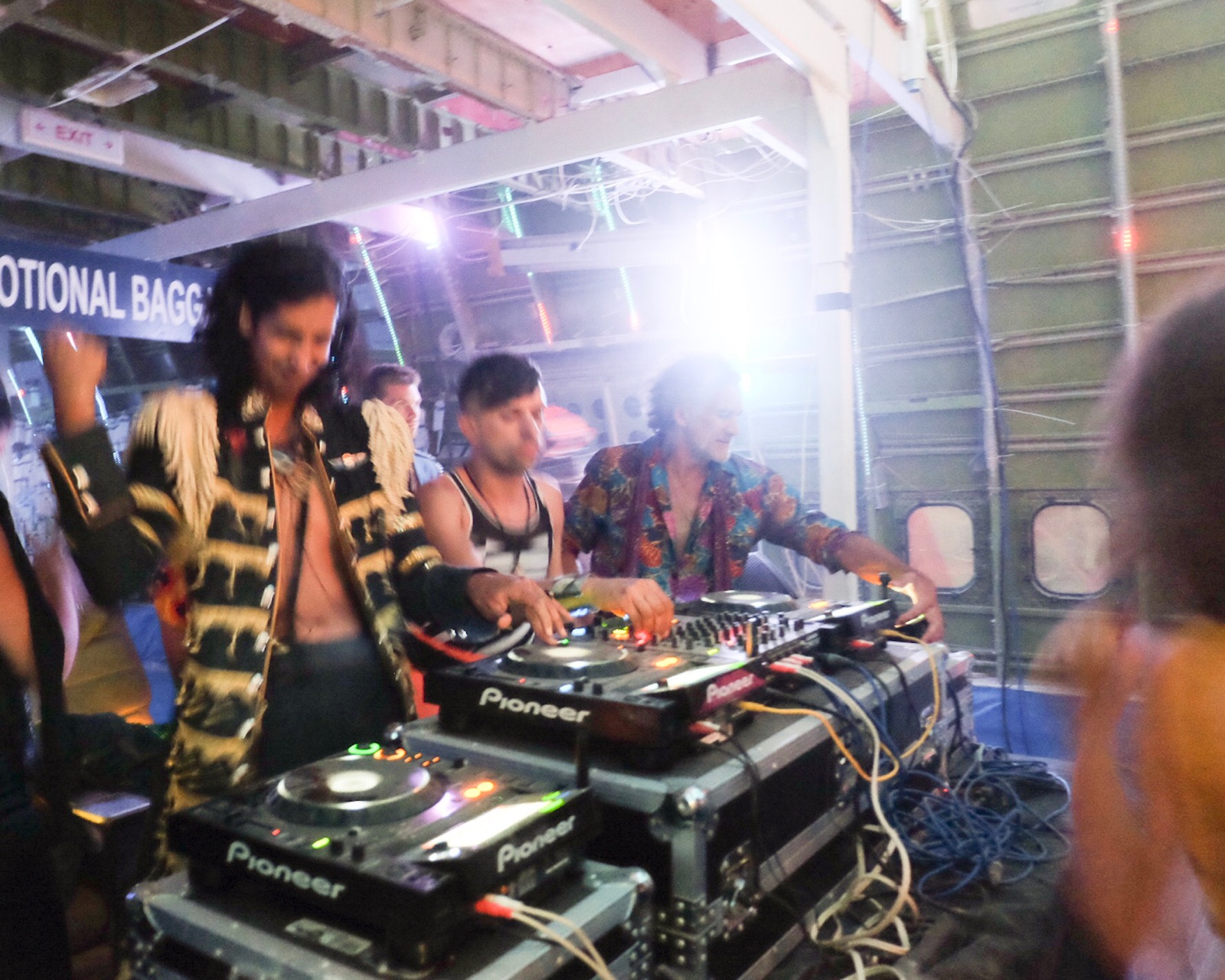 Playing a back-to-back set at Burning Man inside the 747 plane with Lee Reynolds, Nikita, MightyKat and Bilaliwood before the Martinez Brothers.