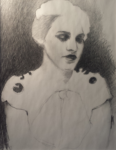 """Florence Pfifer drawing 2, Graphite on Paper, 8.5""""x11"""""""