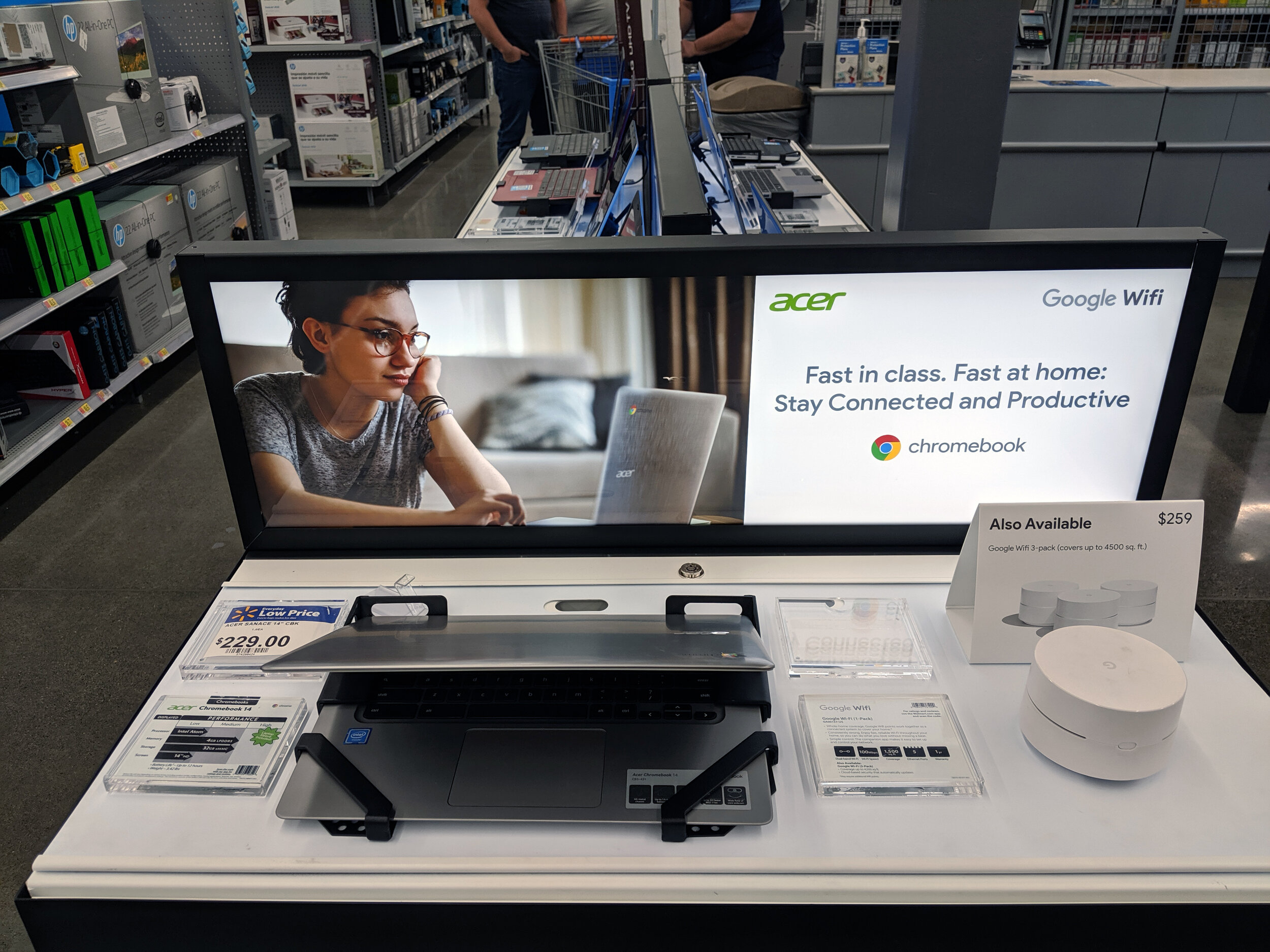 Acer / Google Wifi Display in Stores at Walmart