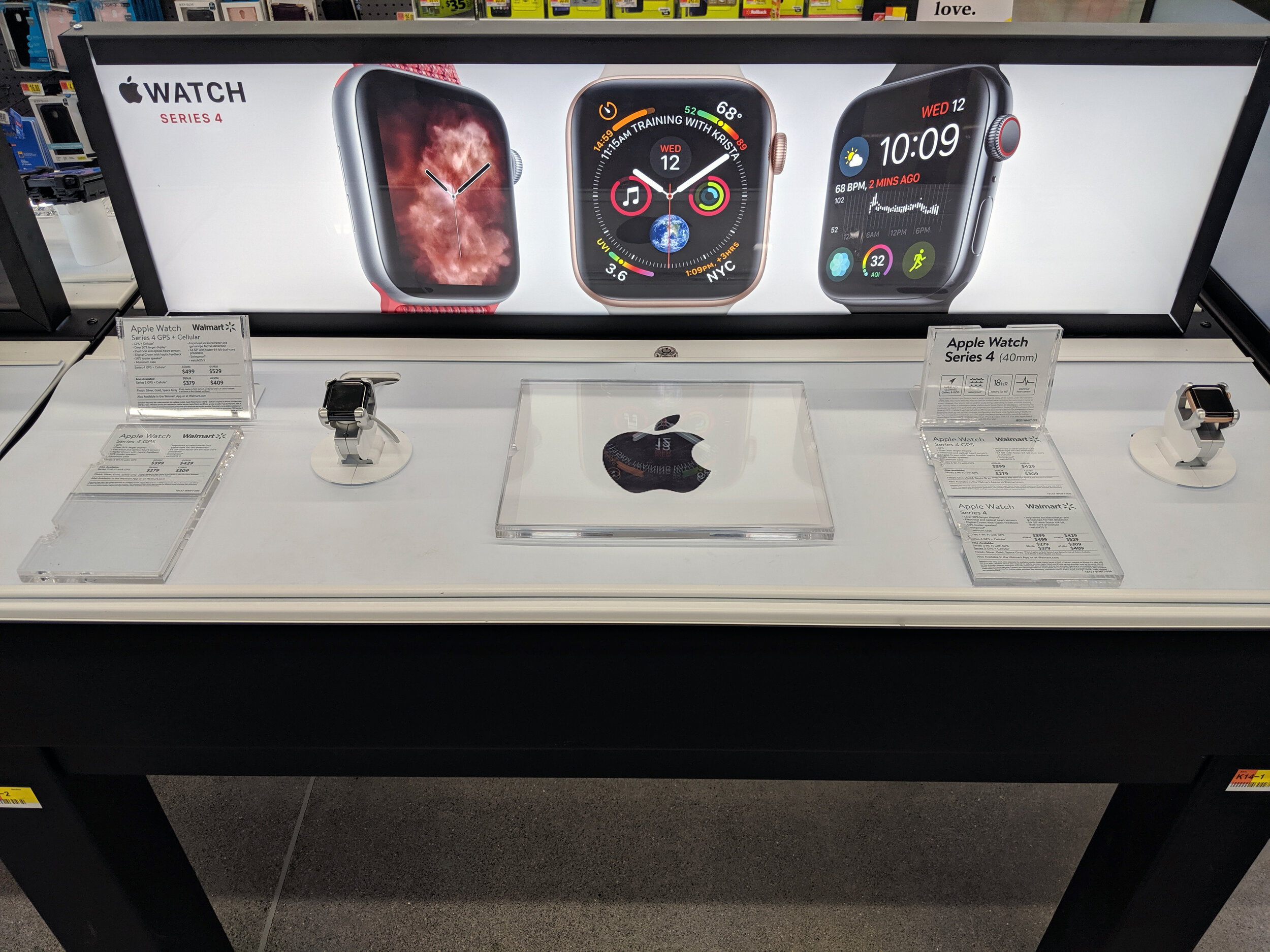 Apple Watch Display in Stores at Walmart