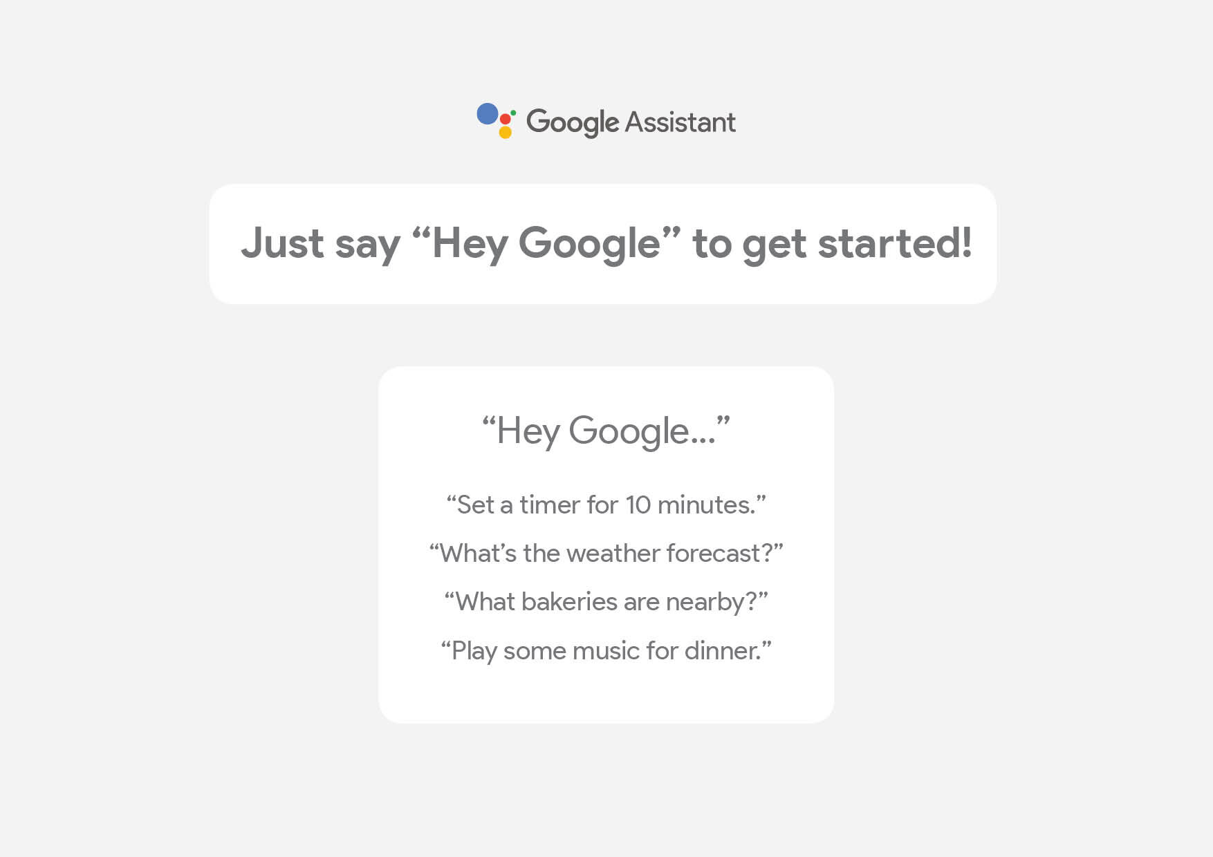 Google Home A4 Graphic for Walmart