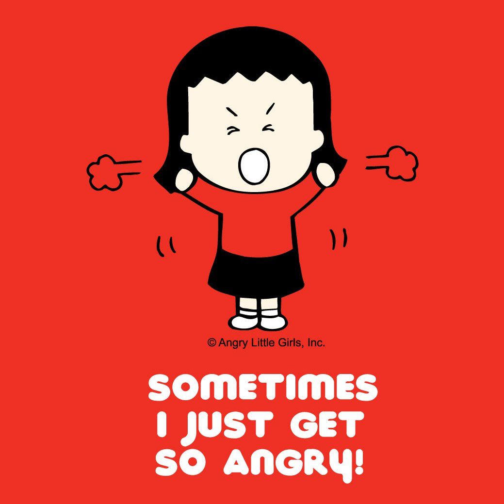 Angry Little Girls - Angry Little Girls is a comic strip about girls who are angry, disenchanted, crazy, fresh and gloomy.