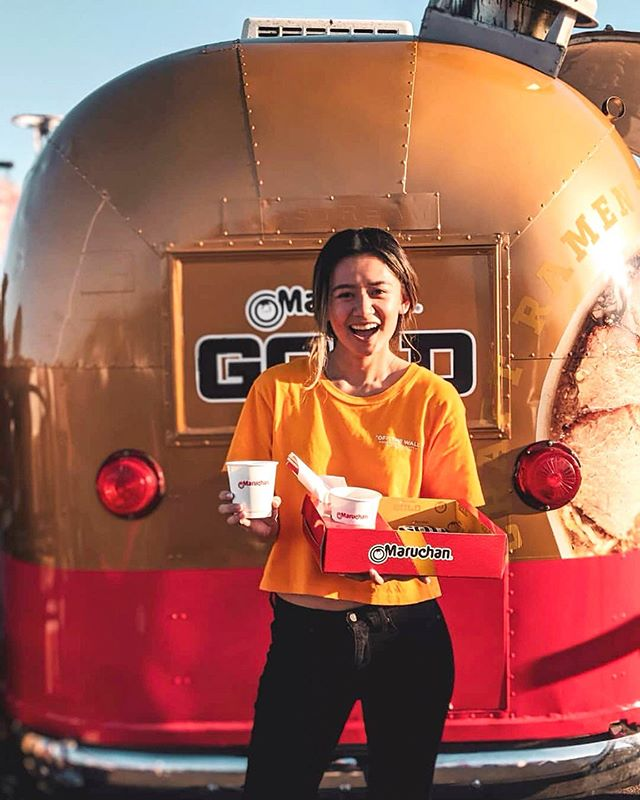 Go for the gold 🍜🏅 @maruchan_inc will be at our event today giving out free samples of their newest GOLD RAMEN! You can choose either Spicy Miso or Soy Sauce. Look for their cute gold and red Airstream! While supplies last. 📸: @paulineenawin #thenewgoldstandard #maruchangold — EVENT INFO: Hours are 4pm-11pm Sun on August 25th at OC Fair & Event Center in Costa Mesa. Admission is $5 cash at the door or online on our website. Parking is $9. Most vendors accept cash only. We recommend arriving early to beat the crowds and for new security measures such as bag check and metal detectors at the entrances. See the Event Directory on our website for full list of vendors.