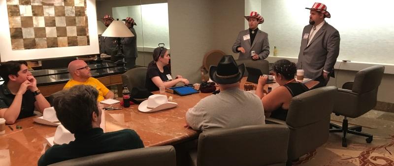 Dallas RPG; in the board room, of course.