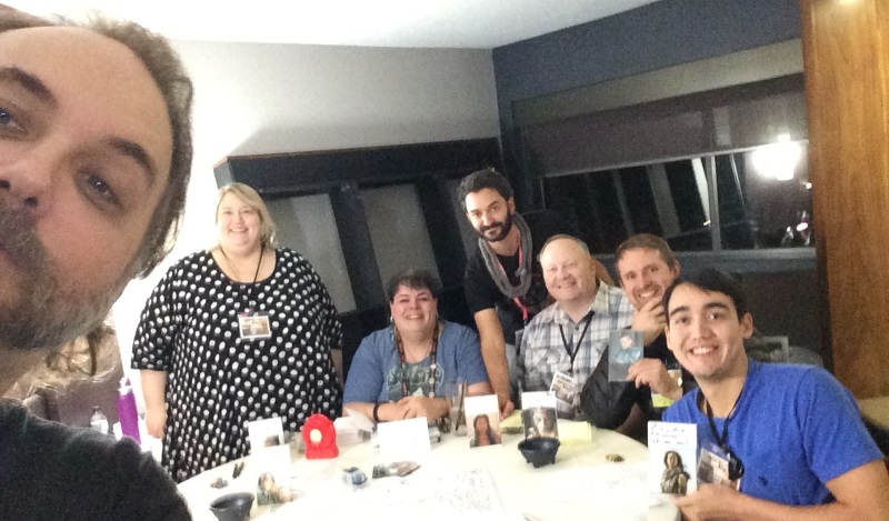 The Jerry table selfie, with Alison, Bryanna, myself, Stephen, Tor and Anthony