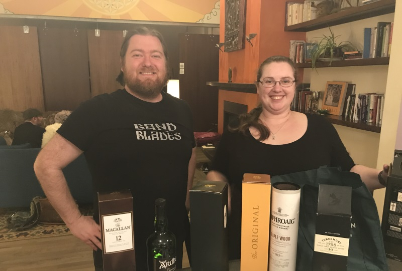 Gracious scotch hosts, John and Cate!