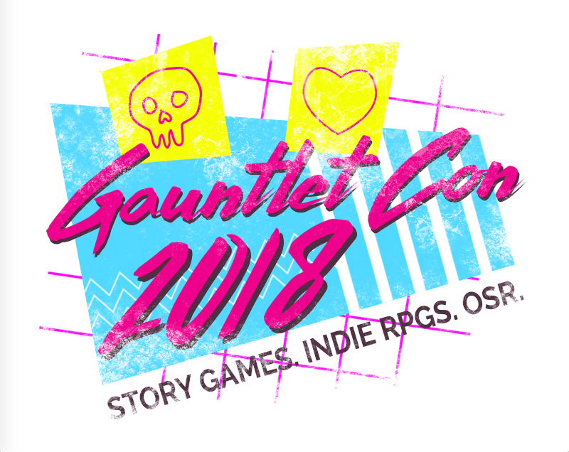 Fabulous GauntletCon 2018 logo!  Worthy of a T-shirt .