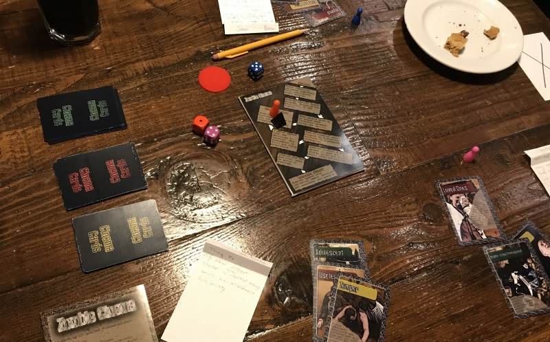 Zombie Cinema… board game-esque, but story game-full.