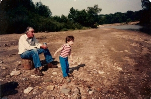 My Grandfather and I at the Family Farm on North River | Missouri