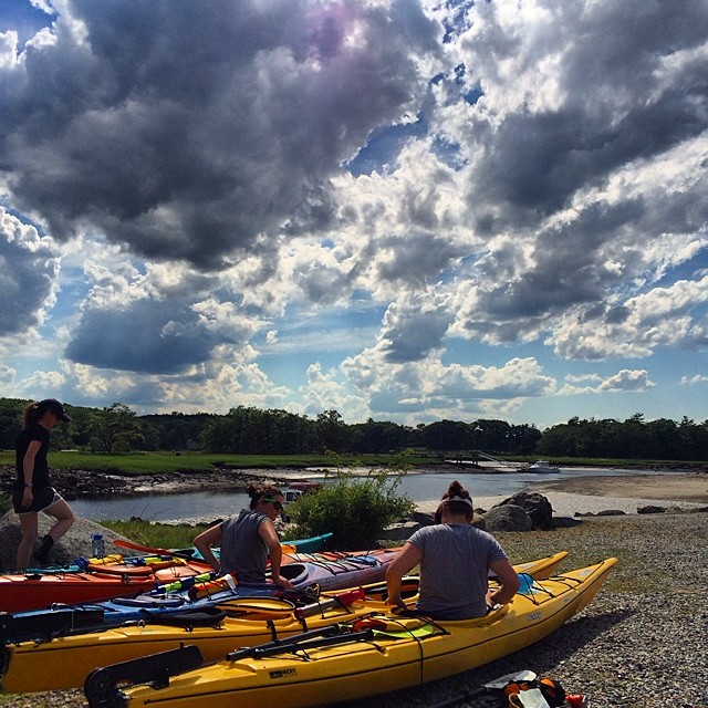 Teaching Sea Kayaking at Odiorne Point near Newscastle, New Hampshire
