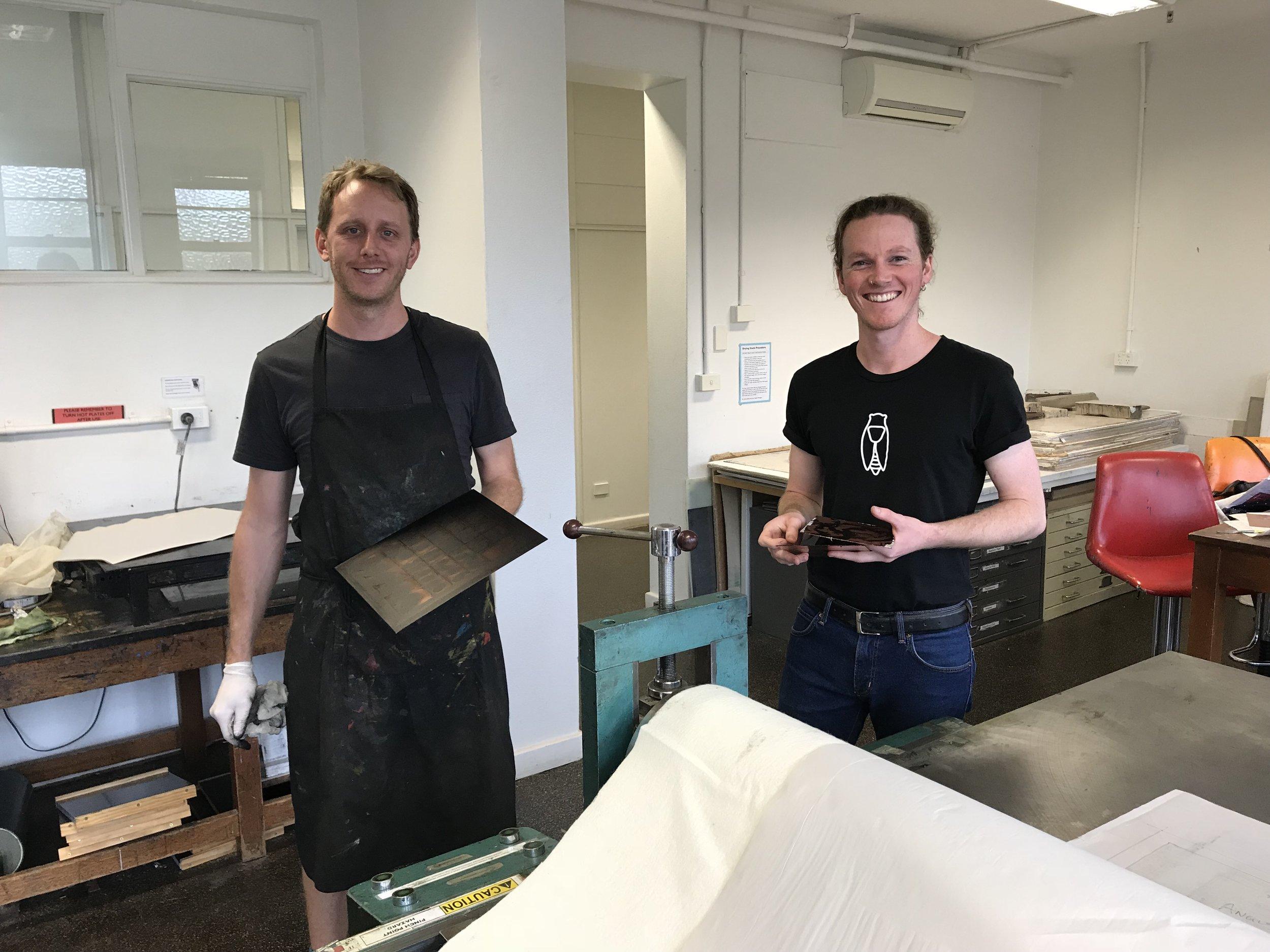 Angus Fisher (NAS) + Doug Schofield (UNSW) Recipients of MEGA Residencies 2018