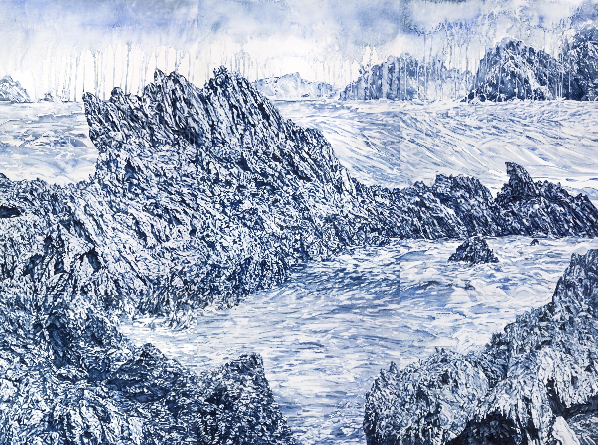 Image:  Guerilla Bay   Annika Romeyn, watercolour monotype on paper, 2019