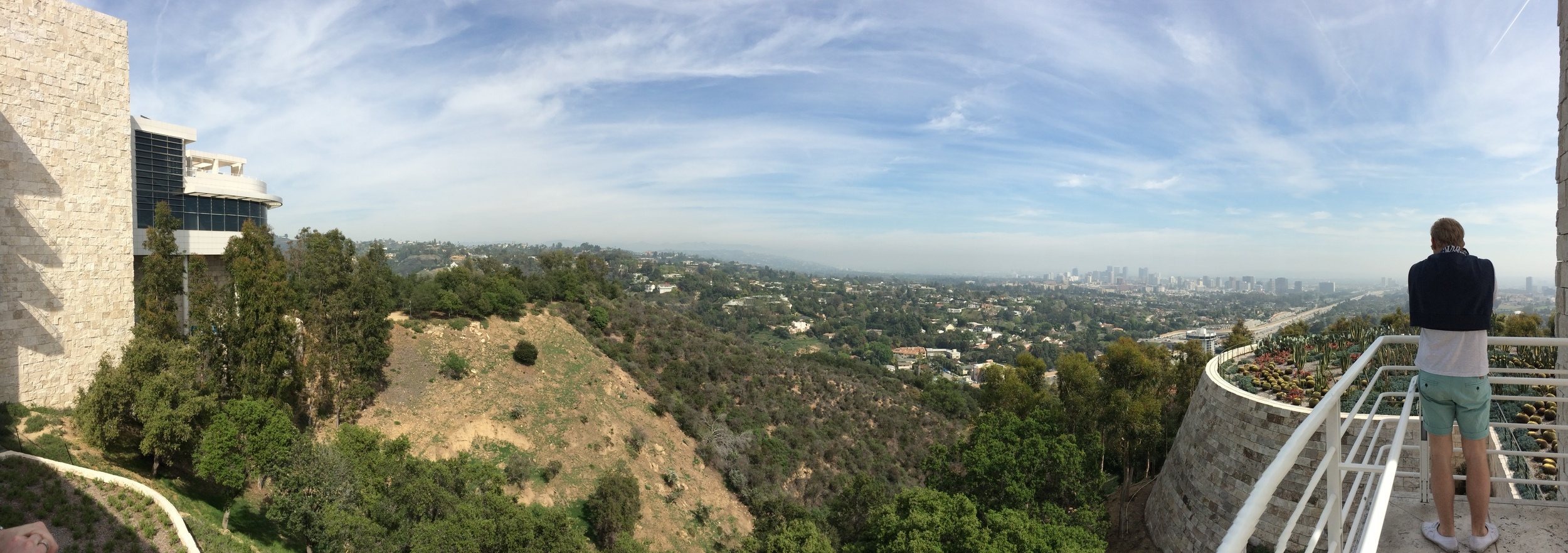 The view from the Getty Museum in Los Angeles.