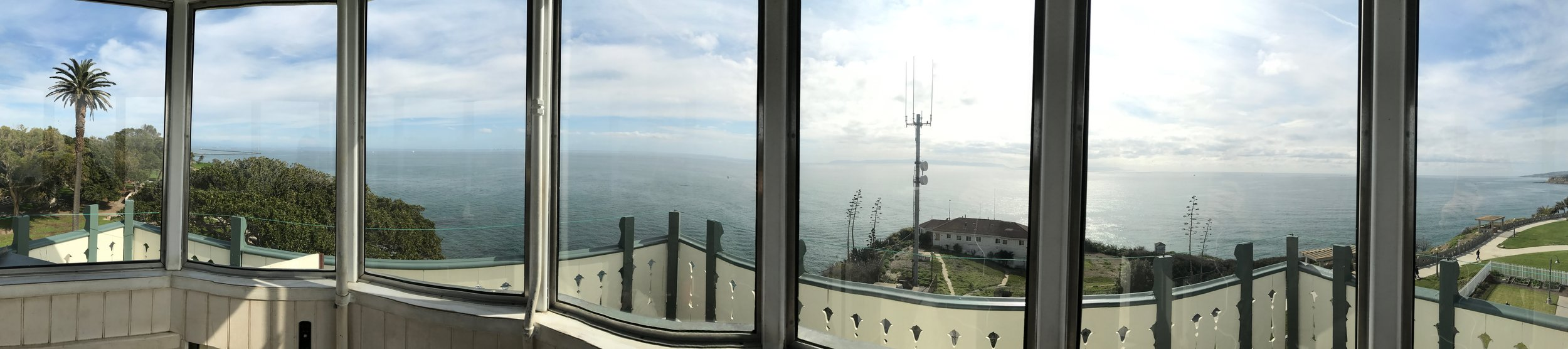 The view from the lighthouse tower.